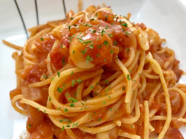トマトパスタ冷製