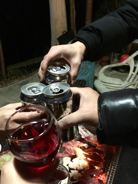 乾杯バーベキュー